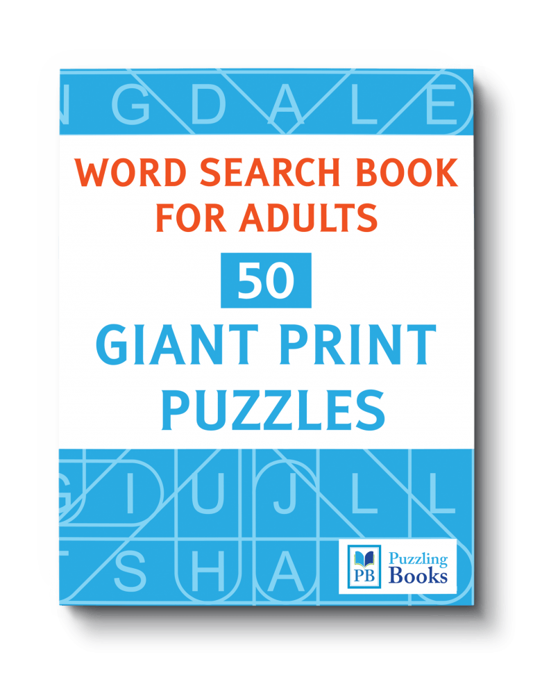 Large Print Word Search Puzzles For Seniors – Puzzling Books